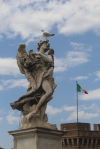 On the Castel Sant Angelo's Bridge of Angels