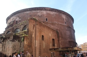 In the shadow of the Pantheon